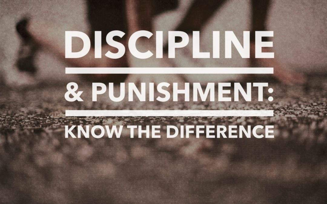Discipline and Punishment: Know the Difference